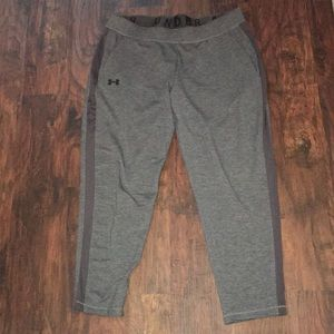 Under armor fitted sweatpants with pockets XL